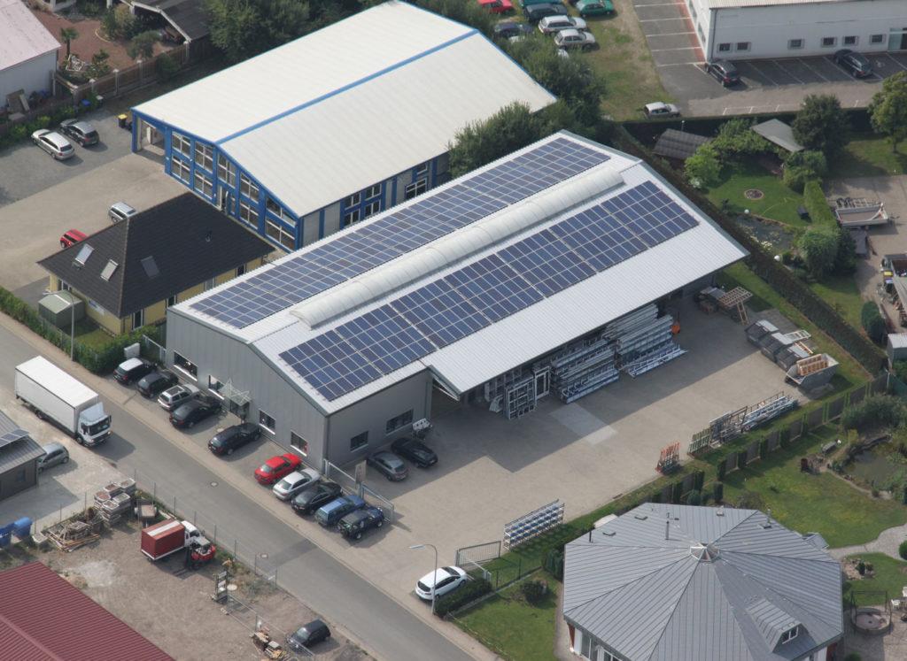 Firmengebäude Luftaufnahme
